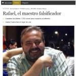 El diario El Mundo pone cara a Rafael, el falsificador de billetes natural de Bailén