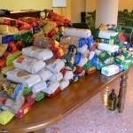 Más de 300 kilogramos de alimentos para Cáritas