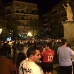 Los madridistas salen a la calle a celebrar la victoria de su equipo
