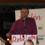 Acto público del parlamentario de IU Juan Serrano en Bailén