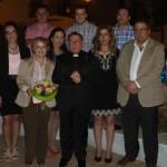 El párroco Jose Antonio Balboa inaugura la Feria del Barrio