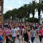 Más de cuatrocientos bailenenses caminan juntos por su salud