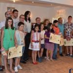 Entrega de premios a los ganadores del concurso de Pintura al Aire Libre