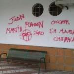 Pillado in fraganti el autor de unas pintadas en la estación de autobuses