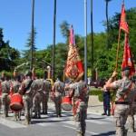 El regimiento La Reina nº 2 deja Bailén entre aplausos