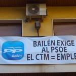 Continúa la campaña reivindicativa de los populares bailenenses