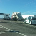 Reabierta la A-44 tras un accidente entre dos camiones este lunes