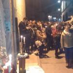La cofradía de la Virgen de los Dolores celebra su tradicional vía crucis