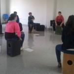 Once bailenenses participan en el curso de cajón flamenco