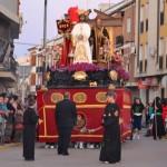 Las imágenes titulares de la Cofradía de San Juan protagonizan la tarde del Domingo de Ramos