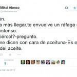 El futbolista Mikel Alonso enciende a los bailenenses en las redes sociales