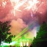 Fuegos artificiales para despedir la Feria del Barrio