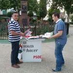Paseo electoral del PSOE de Bailén este jueves