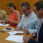 Chiqui Camacho y Nieves Rusillo presentan y firman su acuerdo de gobierno