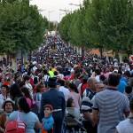 Baño de multitudes para la Virgen de Zocueca en su romería