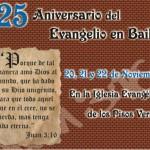 La Iglesia Evangélica de la calle Maria Bellido celebra la llegada del Evangelio a Bailén