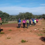 Setenta personas participan en una ruta por Burguillos