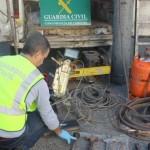 Siete detenidos por desmantelar naves industriales en Bailén