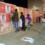 Comienza la campaña para las generales con la tradicional pegada de carteles