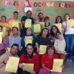 Los alumnos del taller ocupacional participan en el Curso de Cocina Básica Adaptada