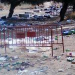 La basura vuelve a ser protagonista tras la Romería
