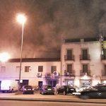 Incendio en la cocina de un hostal bailenense
