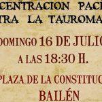 Concentración contra la tauromaquia esta tarde en Bailén