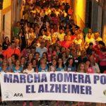 Casi quinientas personas participan en la Marcha Romera por el Alzheimer