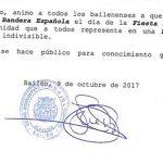 El alcalde de Bailén pide engalanar las calles con la bandera de España