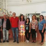 La delegada de Educación visita las obras de mejora del IES Hermanos Medina Rivilla