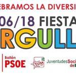 El PSOE invita a los ciudadanos a participar en la Fiesta del Orgullo