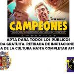 Este domingo se proyectará la película Campeones